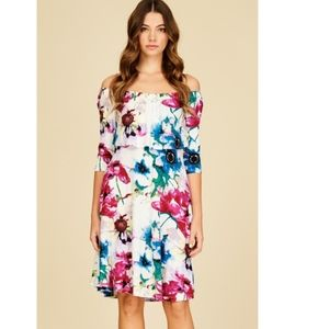 *COMING SOON* Floral Off the shoulder Midi Dress
